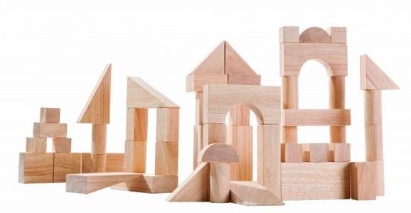 Montessori – Plan Toys Přírodní stavebnice
