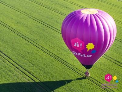 Adrenalinový zážitek ve dvou – let balónem