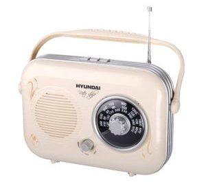 Přenosné retro rádio