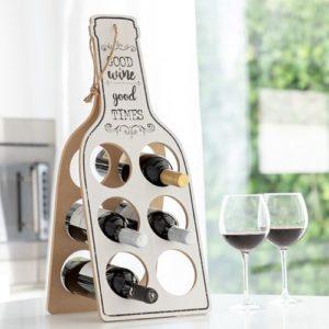 Stojan na víno pro milovnici tekutých hroznů